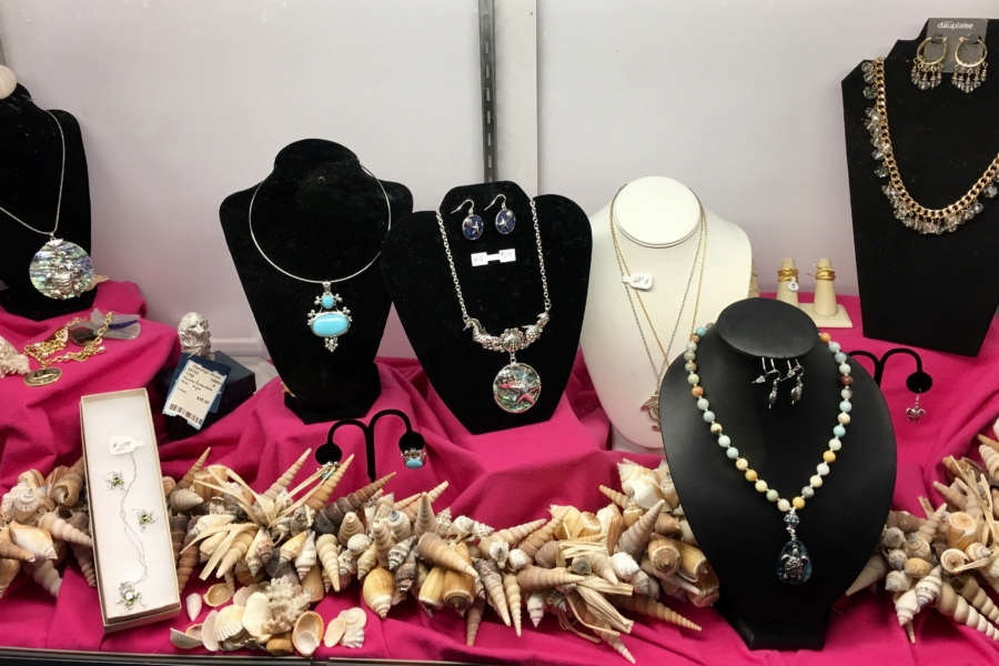 Large selection of New Jewelry • Rings, Bracelets, Earrings, and Necklaces for all occasions. Larger sizes also available.  Beach jewelry including anklets and toe rings.