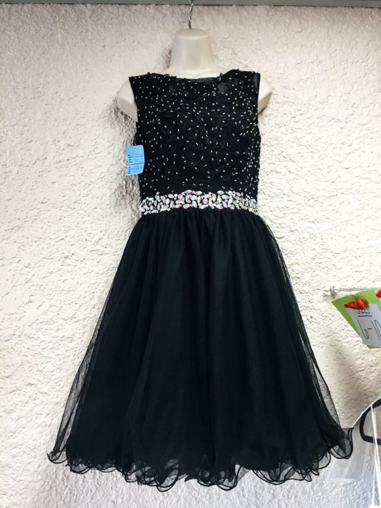Short Black Party Dress • Sleeveless black with sequins and tulle skirt. This little dress makes you feel beautiful. Size 8