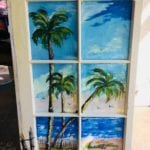 Local Artist window painting • This is a one of a kind painting for a local Artist. The beach themed window has a realistic feel of looking out the window at the beach!🌴