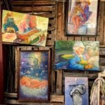 Stuart Fleishman Artwork • Stuart has been painting since 1980.  He works with soft pastels on yupo paper and acrylics on canvas. He has won many awards and has a gallery in Wilmington, NC. His use of color & images is extraordinary. You will want to bring one home!