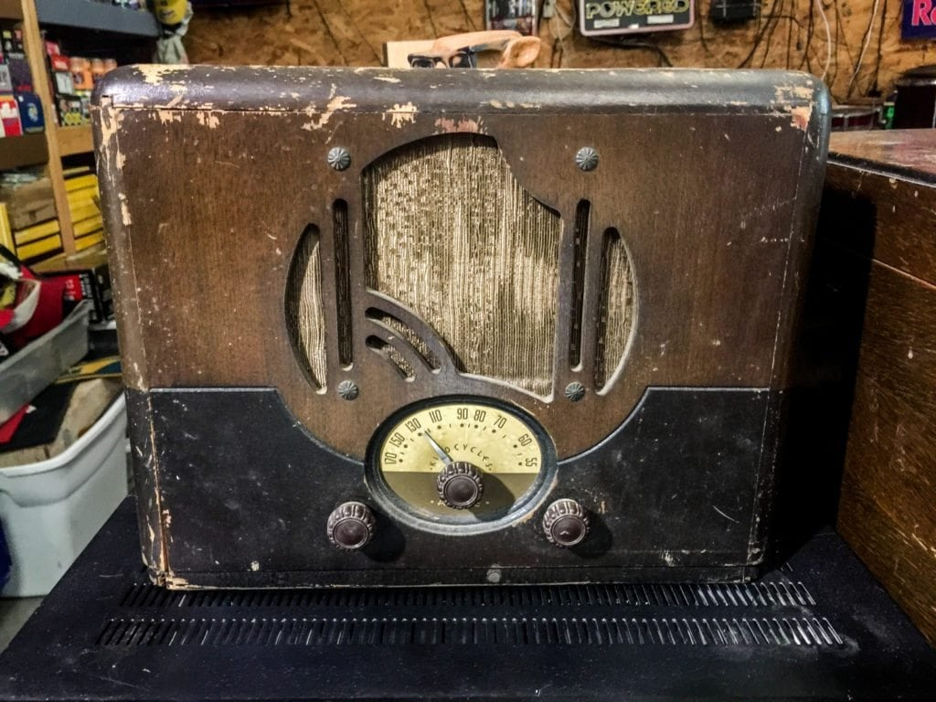 Antique Radio • This is an oldie but a goodie! Not many of these sitting around. It will definitely start a conversation.