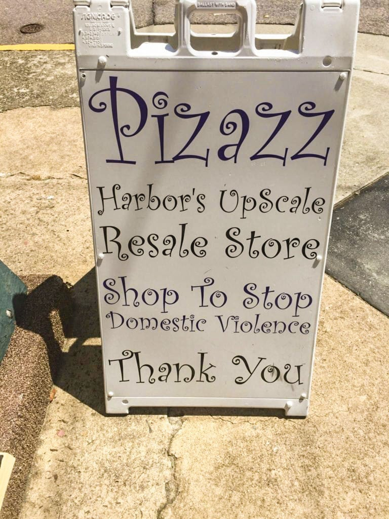 Shop To Stop Domestic Violence • All profits from our Pizazz stores go directly back to Harbor Shelter to maintain and sustain our emergency shelter for women & children who are victims of domestic violence.