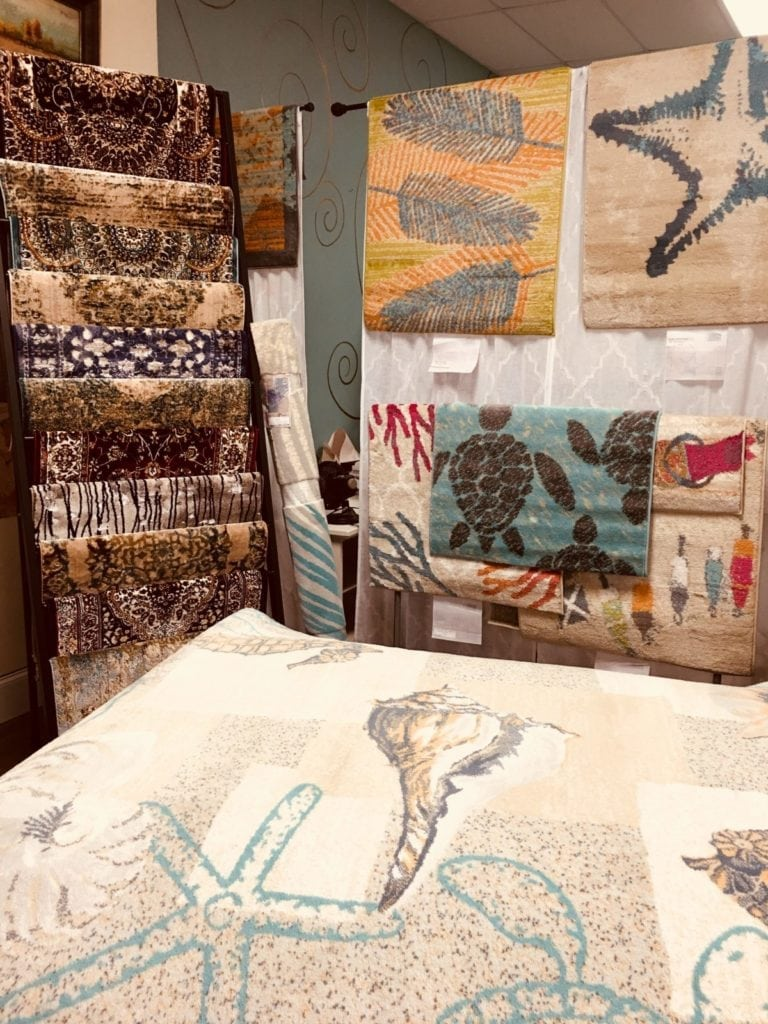New Rugs in at The Marketplace! • Just arrived a new selection of Rugs! Beautiful colors and designs for any home.  From traditional to contemporary available in a wide range of sizes!