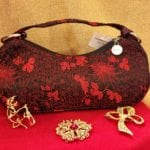 Red and black purse •