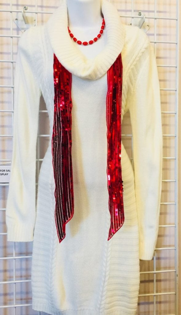 Winter white sweater dress • Gorgeous winter white sweater dress. Size medium!