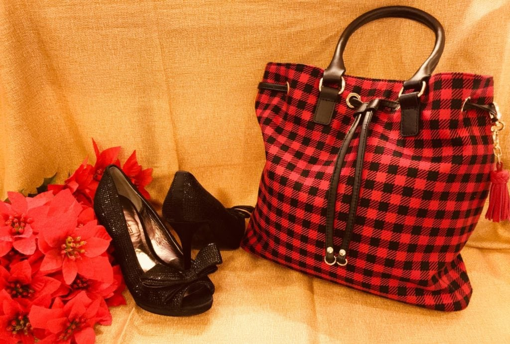 Red & Black Purse • Talbots Red & Black Purse With Gold Accent