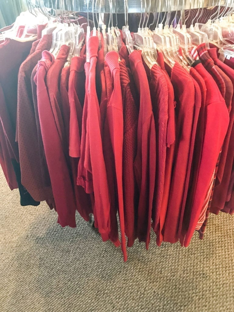Red Sweaters Galore! • We have a nice selection of red sweaters in various sizes. Come on in and try one on! Everyone needs a red sweater for the Holidays!
