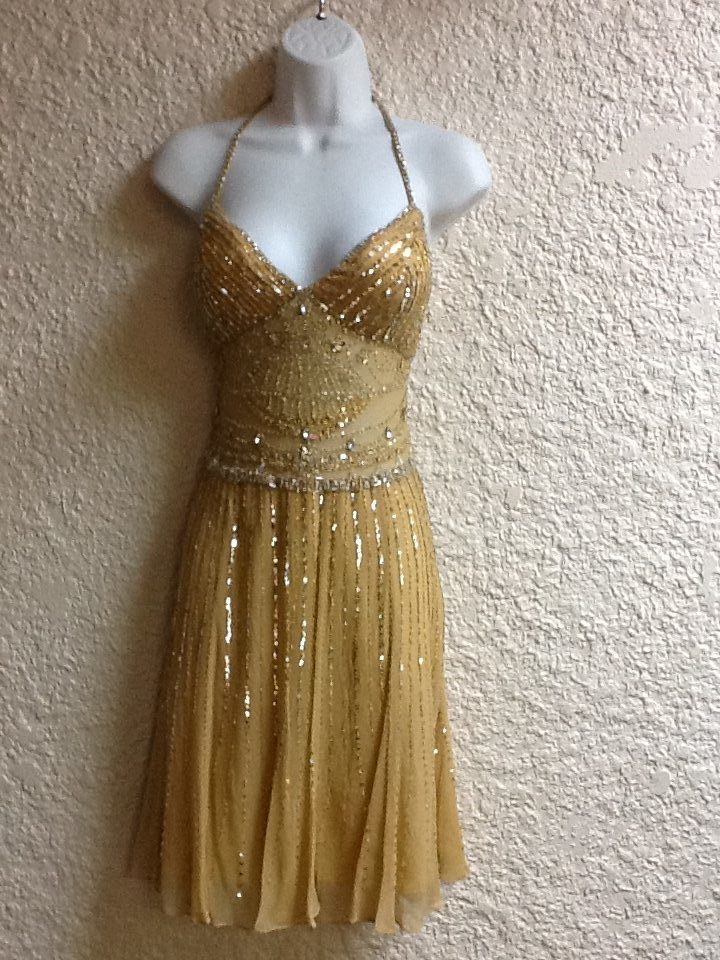 New Years Eve • Gold party dress