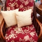 Floral Wicker chair • Beautiful oversized wicker chair made by Braxton Culler Furniture is well made and comfortable!