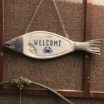 Upcycled Welcome Sign • Beachy Welcome sign. This would look perfect adorning your beach house door or just hanging in your entrance way.