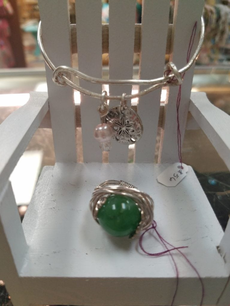 Bracelet or ring • Beautiful handcrafted jewelry made by a local artisan. Stop by and see Carol's complete collection.