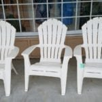 Adirondack Chairs • Set of 3 White Resin Adirondack Chairs🌞