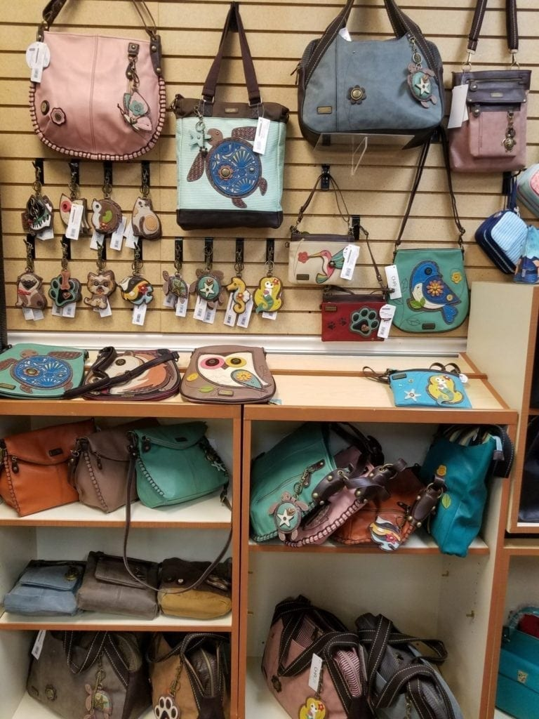 Chala bags and accessories. • This collection of whimsical Chala bags/accessories is now in stock. Stop by and check out what we have, we can special order if we don't have what you want.
