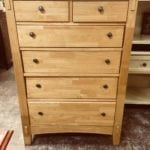 Natural Wood Dresser • This 6 drawer chest has plenty of room for storage in your bedroom.