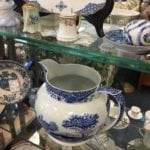 Blue and White • Pitcher, Dishes, Platters and misc pieces