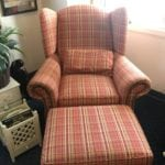 Country Wingback Chair and Ottom • Home Furnishings