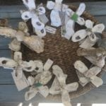 Oyster shell cross • Beautiful handmade Oyster Shell Crosses made by a local Artist.  Each one is unique in design!