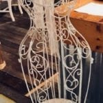Vintage metal dress form • Isn't she pretty? Fabulous display for your favorite fashion accessories in your dressing room, bedroom or wherever!