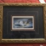 """""""Hurricane"""" • Print by well known Charleston artist Jim Booth. Beautifully matted and framed. Makes a lovely match to the available Betty Condon print """"Twilight on the Battery"""".  Measures 10""""x11"""""""