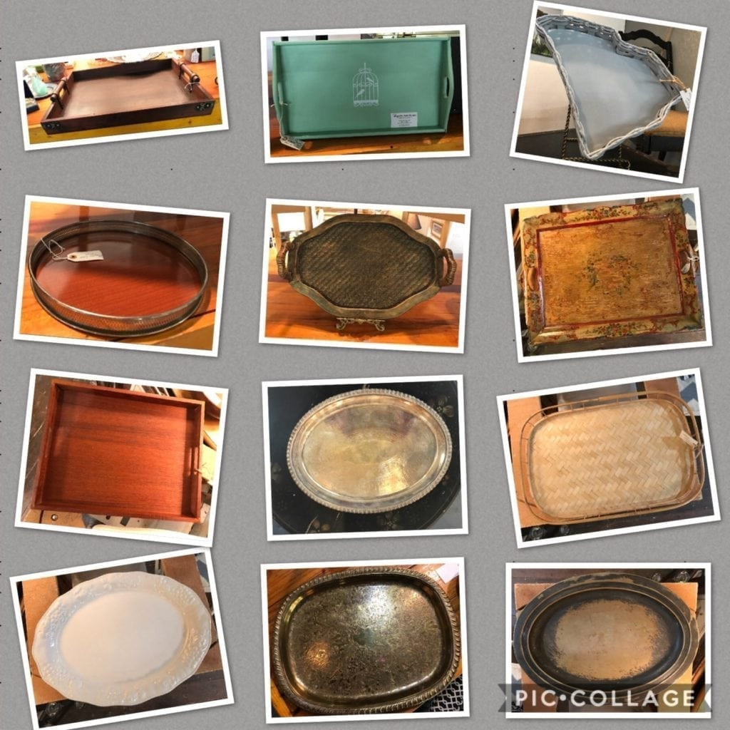 Serving trays and platters • We have a large selection of trays and platters. This just a small selection.