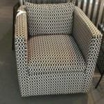 Robin Bruce swivel chair • Black and white geo print. Super comfortable and in excellent condition. Retails new for $850+!