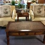 Pineapple chairs pillow back • Pineapple Pillow-back chairs very unique we have two that match asking $149 each. Great neutral color or tone to accent a lot of different living areas.  They have Upholstery even down to the feet located at 5033 Dick Pond unit G location