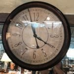 """Large wall clock • Make a statement in any room with this large wall clock. Fabulous form and function, and compliments most decor styles. 24"""". Battery operated."""