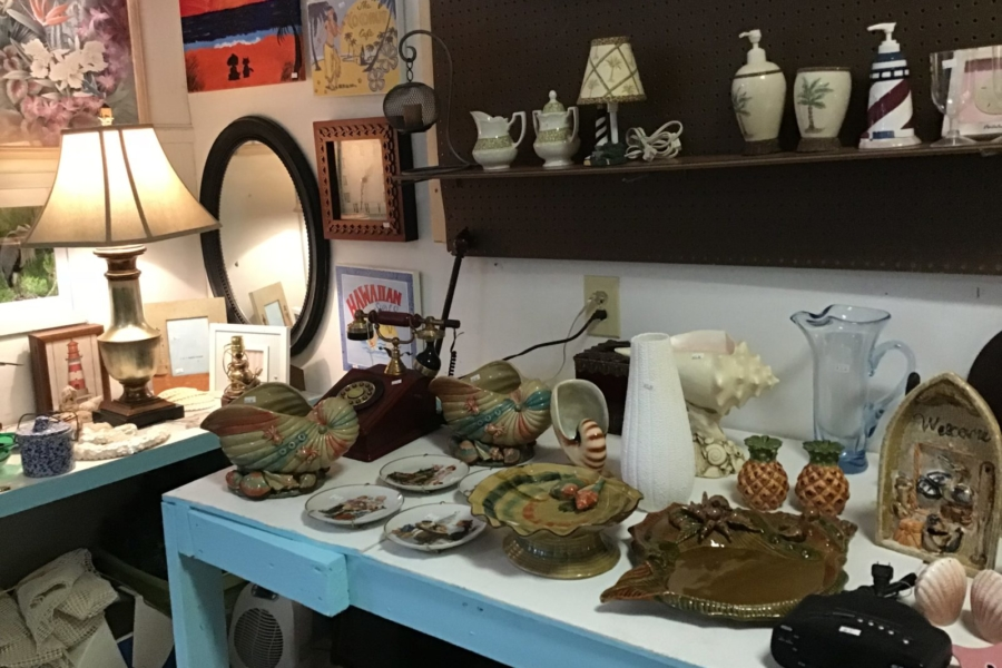 Beach Decor and Knick-Knacks • We have a huge selection of gently used   Beach decor knick knacks Great to add those finishing touches to your beach house condo or rental unit. We have lots of beach pictures also available at our South location come in and See us
