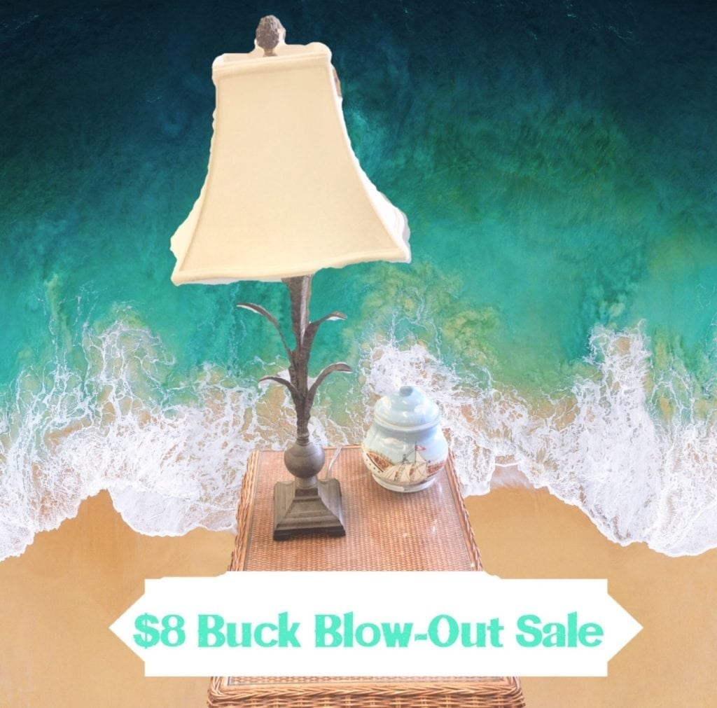 $8 Buck Blow-Out Pineapple Lamps • We just got in a whole lot of these cute Metal pineapple lamps. Very versatile lamps can easily painted to match your Decor  perfect for Beach home rental Or condo unit.