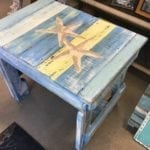 """Amazing Handcrafted Nautical Bench • Great buy on this one of a kind BEACHY handmade wood bench. Measures 22 1/2"""" wide 16"""" deep and 20"""" tall. These are great sturdy pieces and solid wood. Perfect for beach house or condo. Gorgeous pieces each one is unique"""