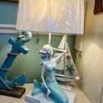Mermaid Lamp • Beautiful mermaid lamp. This lamp will be a great conversation piece and will delight your guests. Nice accent piece in any room.