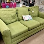 Lime Green Sleep Sofa • Very comfy line green sleep sofa. Let your guests sleep in comfort with this nice sofa.