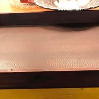 Leather and Wood Tray • This Leather and wood tray is large and perfect for use on an ottoman to store remotes, magazines, or to place drinks on while entertaining.