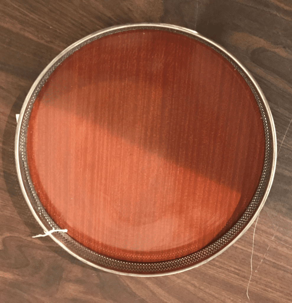 MCM Round Tray • This round tray is great for serving wine or cocktails, as a throw-all for keys and phones in the entryway, or to organize those bottles, etc., in the bathroom!