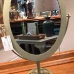Oval Vanity Mirror • Great size for a vanity. Its currently a dull green color, but we can repaint it in your choice of colors to match any décor – from little girl cute to big girl glam! *Final price may vary depending on your choice of finish.