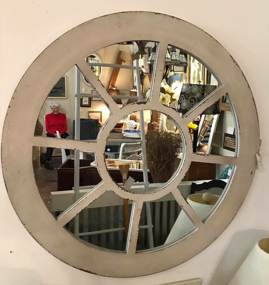 Round Mirror • Whether your décor is Upscale Coastal, Beachy, Cottage or Shabby Chic, this mirror will look great in any room! The color isn't quite right? We can change that for you! We use Low to 0 VOC mineral paints in a variety of colors that you're sure to love!