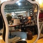 Vintage Wood Frame Dresser Mirror • We love the curves on this mirror! Put it over your fireplace mantle, dining room buffet, or in a powder room for some lovely vintage style. Currently painted white. we can update it any way you like. *Final price may vary depending on your choice of finis