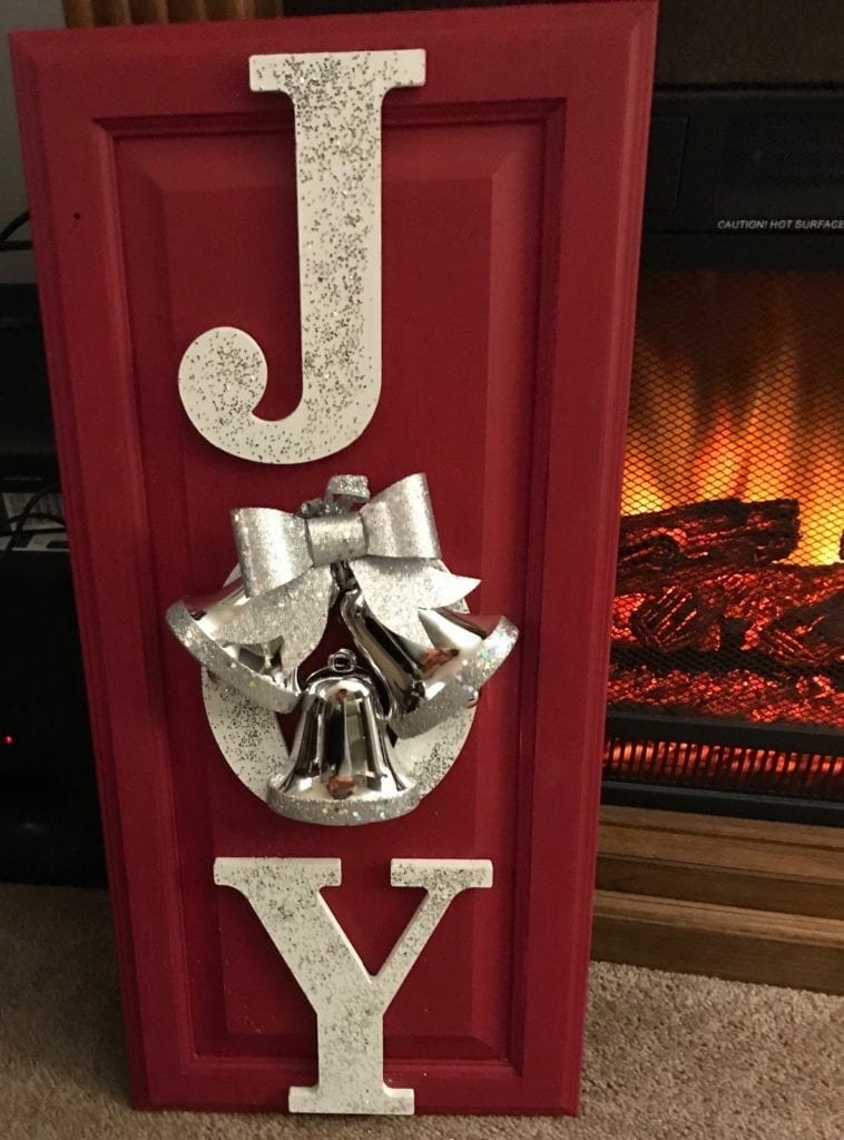 """""""Joy"""" Christmas Decor • Ready for some Holiday decor? This piece is uniquely yours-not massed produced and is sure to brighten your Holidays! Measures 13""""x29"""".  Available for pickup in Murrells Inlet/Garden City. Contact me for delivery options."""