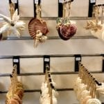 Hand Made Shell ornaments • Local artisan hand made shell ornaments. Perfect to remind you at Christmas of your Surfside Beach vacation.