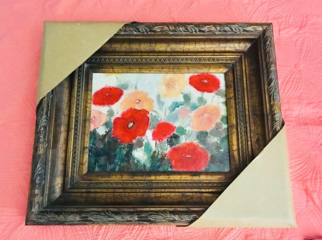 """Original oil painting • This lovely oil painting is wonderfully framed in a beautiful heavy wooden frame.  Frame Measures 26""""x22"""".  Painting measures 16""""x12"""".  Painting and frame available separately."""