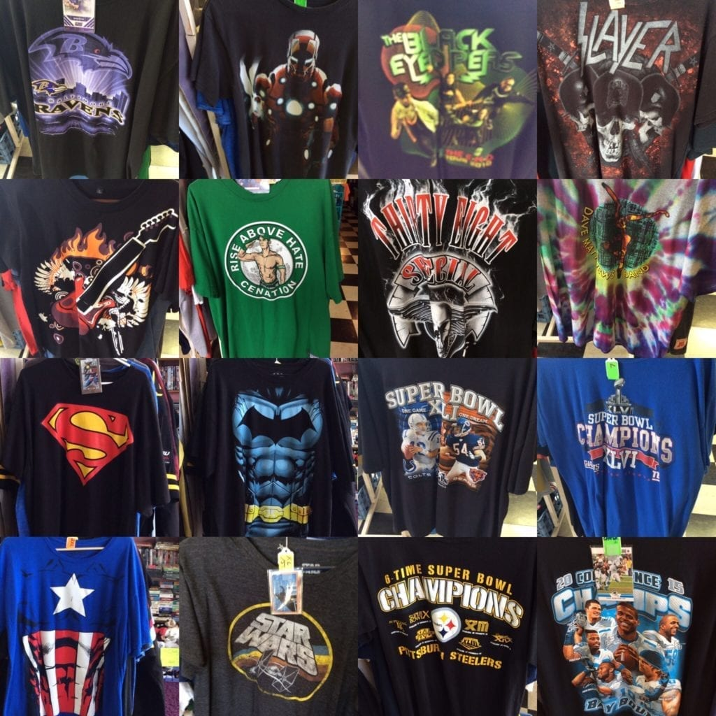 T SHIRTS • T SHIRTS   SPORTING, BAND, SUPER HEROES, TOURS, & MORE PLEASE CONTACT US FOR PRICE CONDITION & AVAILABILITY  843-424-000