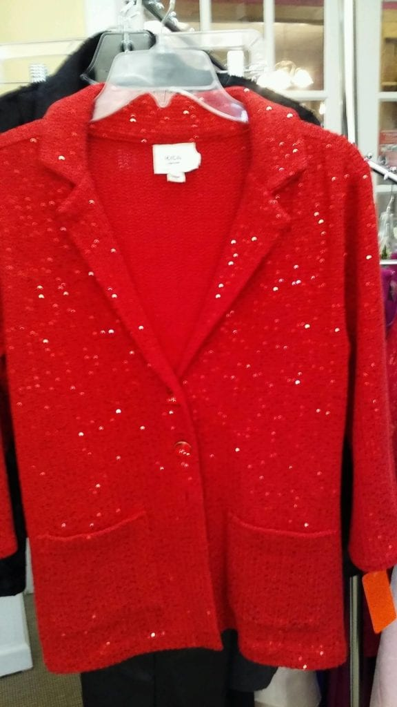 Red Holiday Cardigan • Large